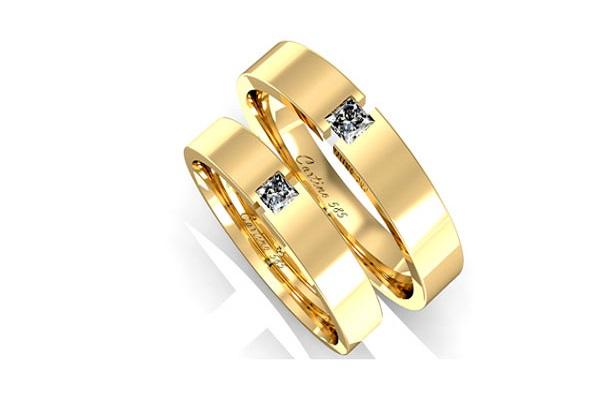 ổ nhẫn kim cương nữ đẹp từ chất liệu vàng cổ điển
