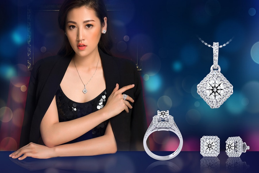 nhẫn nữ ổ kim cương