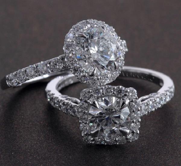 Nhẫn kim cương thiết kế tinh xảo