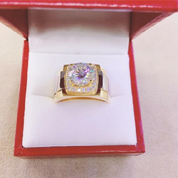 Nhẫn kim cương cho nam từ vàng nguyên chất