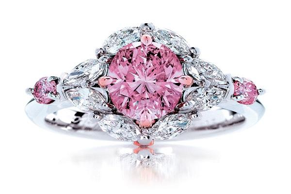 hình ảnh nhẫn kim cương thật