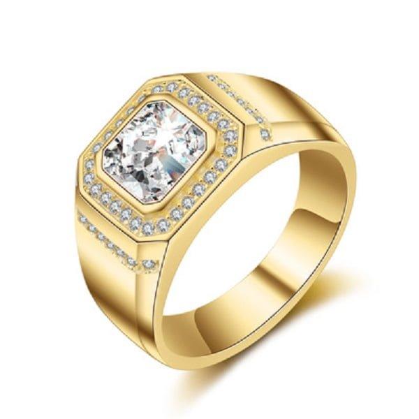 Mẫu nhẫn nam vàng 18k đính đá tự nhiên