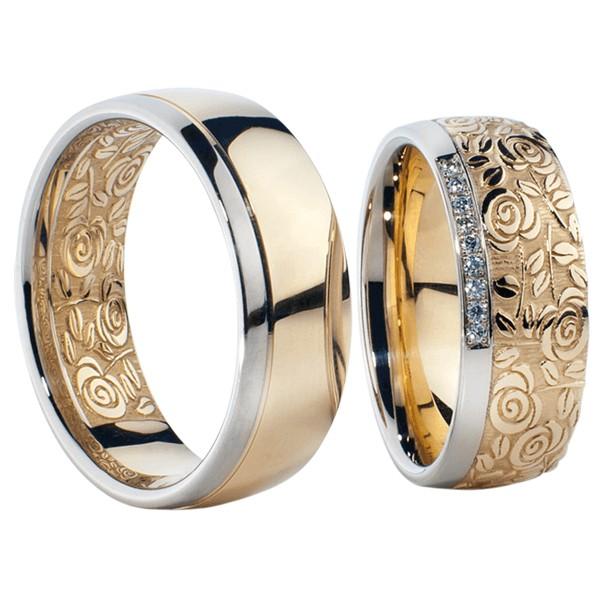 Chọn nhẫn vàng tây không quá cầu kỳ và có nhiều chi tiết