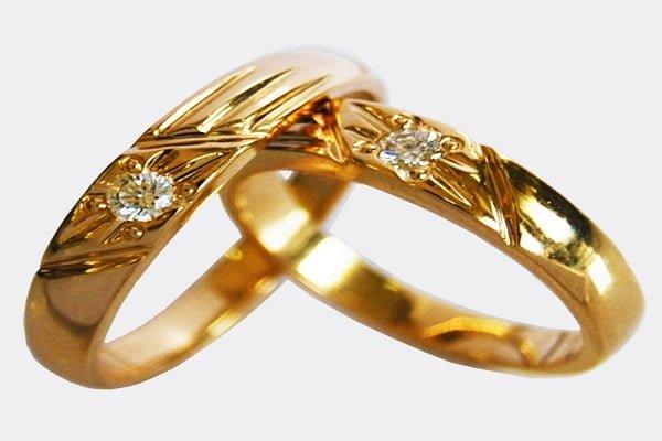 Mẫu nhẫn vàng tây nam mặt đá kim cương