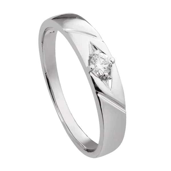 Nhẫn kim cương nam vàng trắng