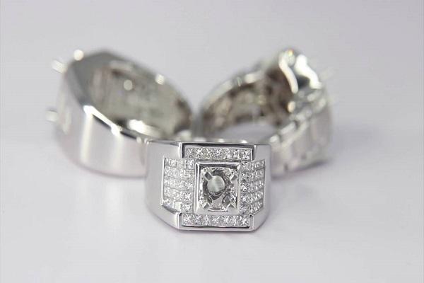 Chú ý kích thước ổ nhẫn kim cương nam đẹp phù hợp với viên kim cương