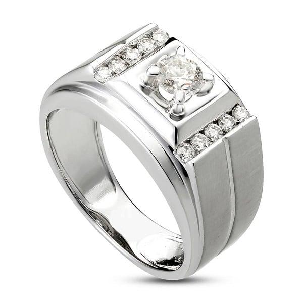 Vỏ nhẫn kim cương từ vàng trắng