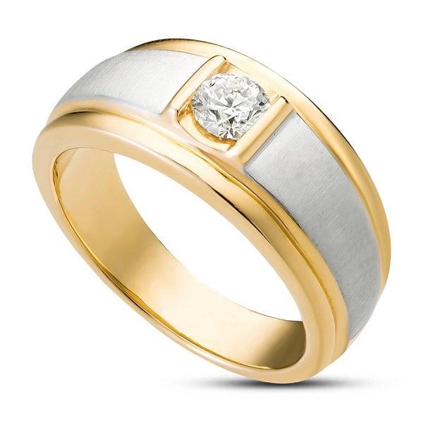 Nhẫn nam làm từ vàng nguyên khối