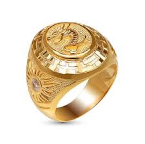Nhẫn vàng cho nam chạm khắc