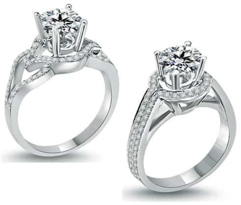 Kiểu nhẫn kim cương hiện đại