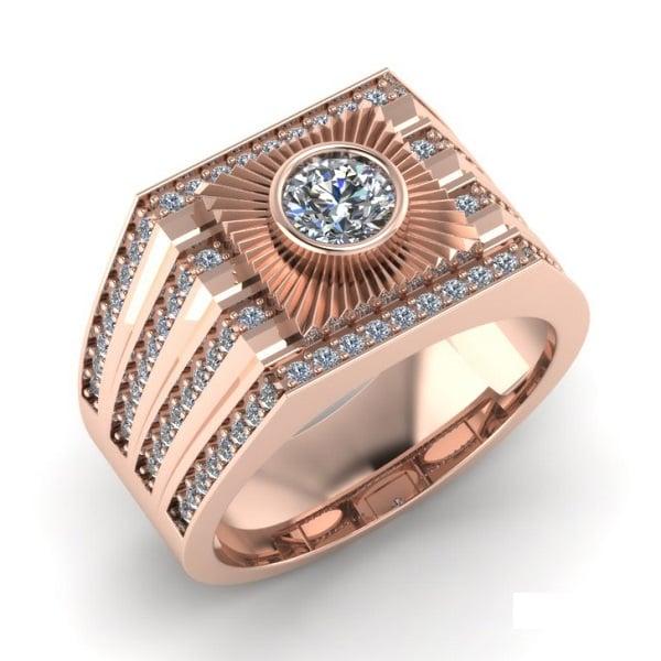 Nhẫn vàng hồng cho nam thể hiện sự sang trọng