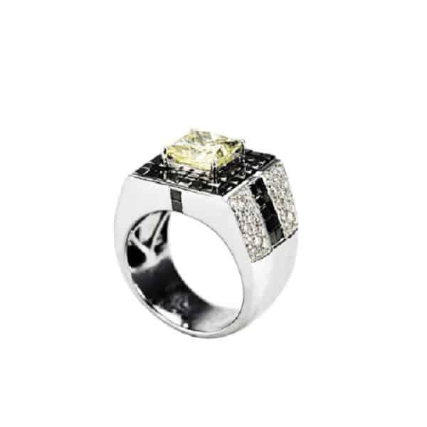 Nhẫn nam kim cương tự nhiên 099R7036M