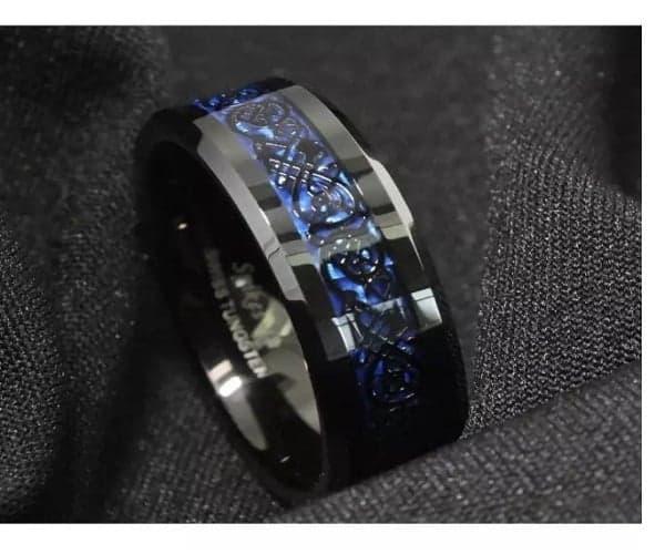 Nhẫn nam kim cương tự nhiên khắc chữ cái
