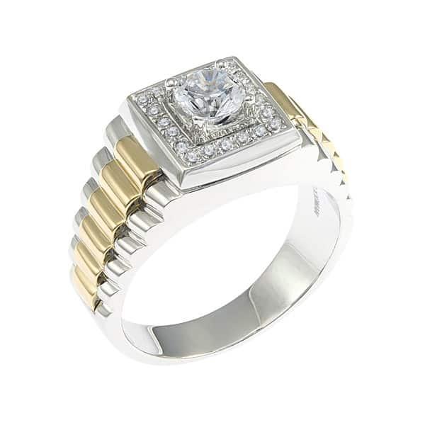 Nhẫn vàng kim cương nam làm bằng chất liệu vàng truyền thống