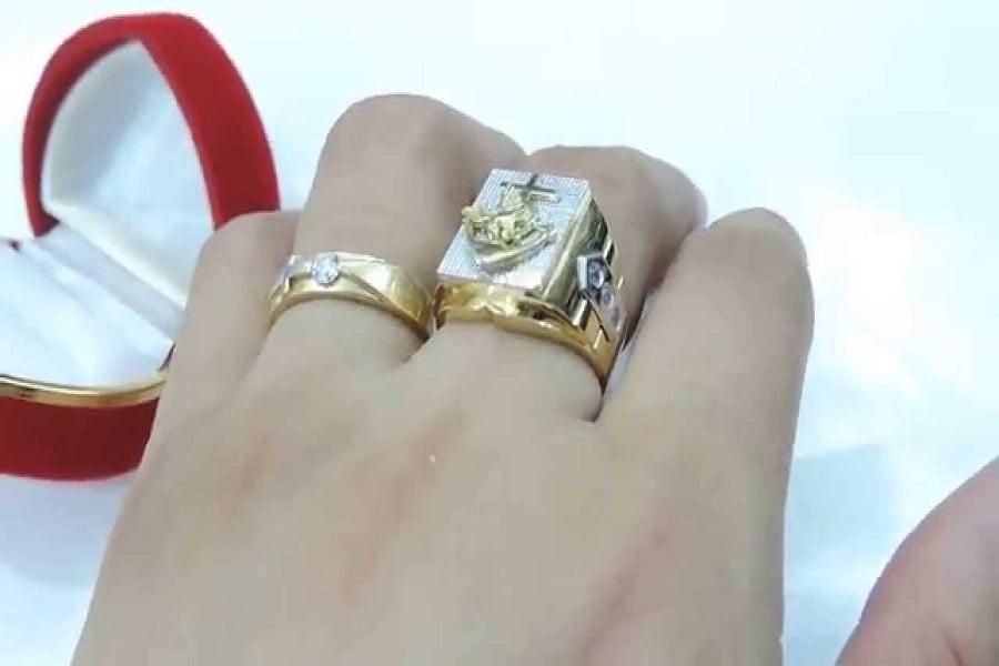 mẫu nhẫn vàng nam