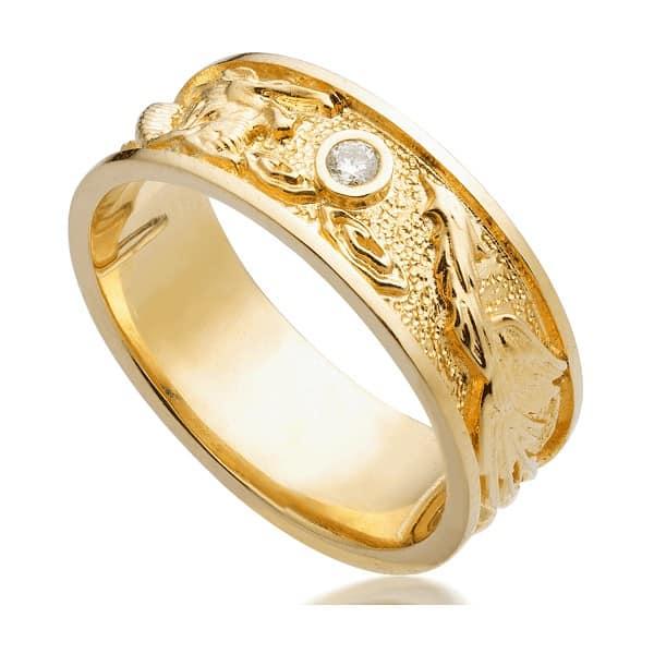 nhẫn vàng nam đá quý