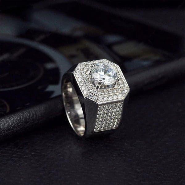 Kiểu dáng ổ nhẫn kim cương nam đẹp