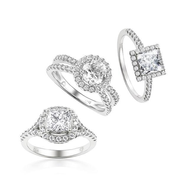 Mẫu vỏ nhẫn kim cương cao cấp đường viền