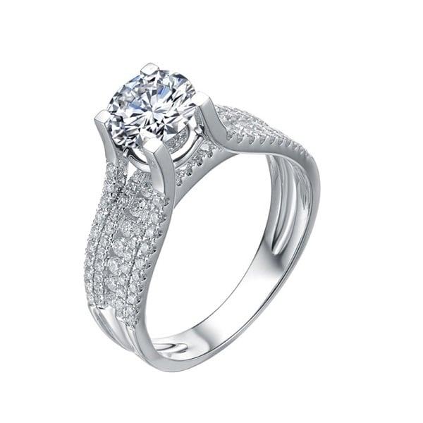 Kiểu vỏ nhẫn kim cương 1 viên đá