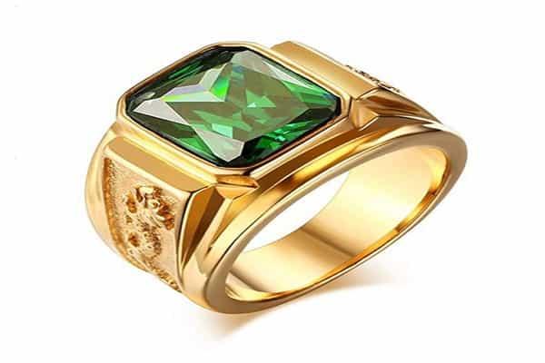 vỏ nhẫn kim cương nam đẹp chất liệu vàng cổ điển