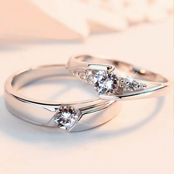 Vỏ nhẫn kim cương nam đẹp chất liệu vàng trắng