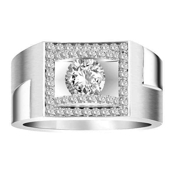 Kiểu vỏ nhẫn kim cương nam vàng trắng