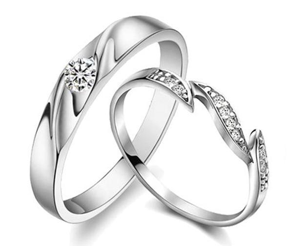 Nhẫn vàng trắng đẹp độ bền cao