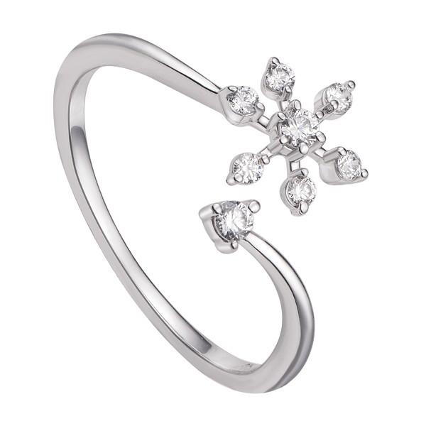 Mẫu nhẫn vàng nữ đẹp kiểu bông hoa tuyết