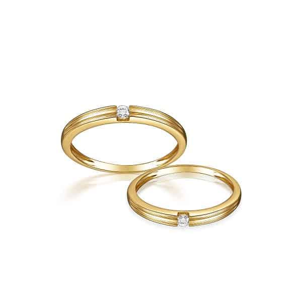 Kiểu nhẫn nữ vàng 18k phong cách cổ điển