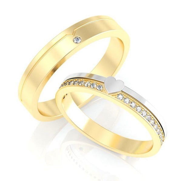Kiểu nhẫn vàng đẹp kiểu cổ điển