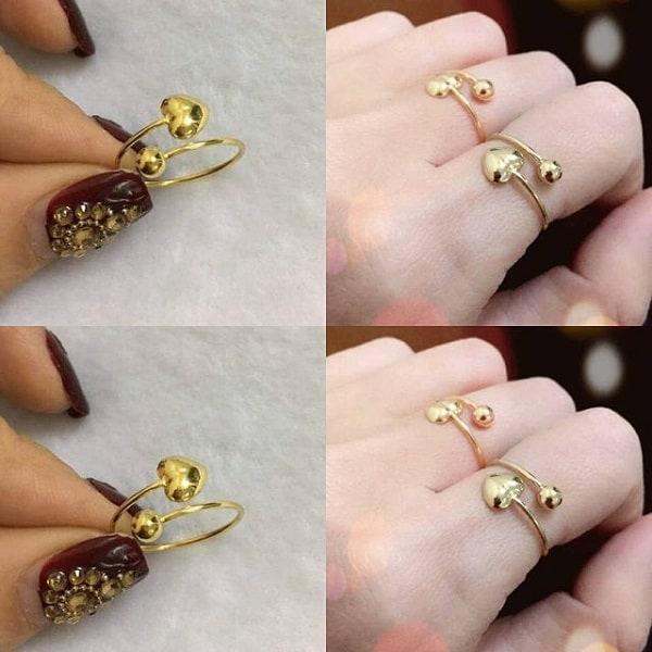 Kiểu nhẫn vàng 18k nữ đẹp dành cho quý cô yêu thích sự ngọt ngào, cổ điển