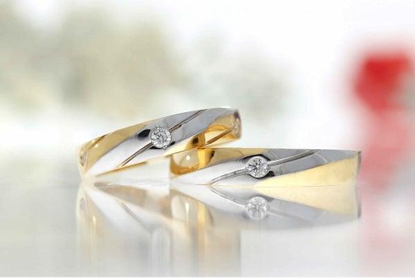 Kiểu nhẫn vàng nữ đính đá quý