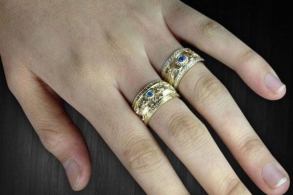 Mẫu nhẫn nữ vàng 18k hình phượng hoàng đẳng cấp