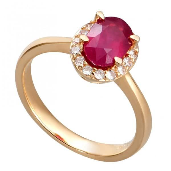 Mẫu nhẫn vàng nữ 18k đẹp đính đá màu