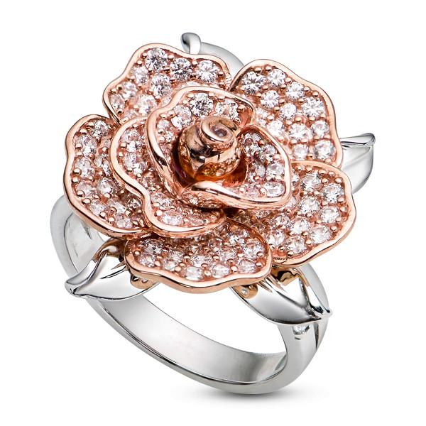 Kiểu nhẫn vàng nữ họa tiết hình hoa