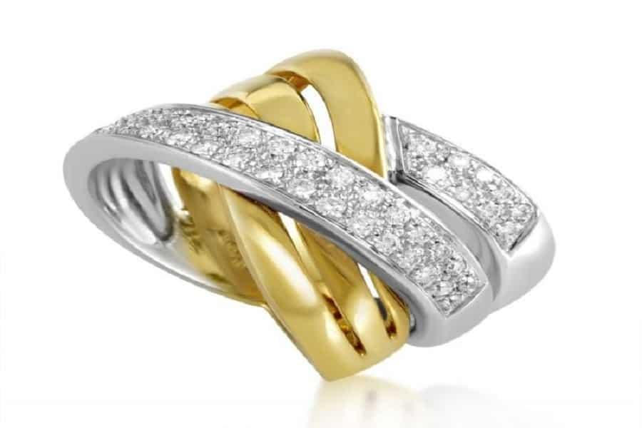 nhẫn nữ vàng ý