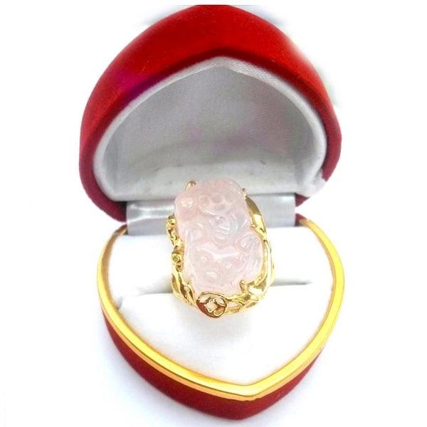 Nhẫn vàng trắng tỳ hưu nữ