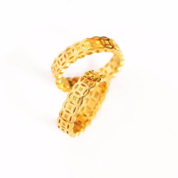 Nhẫn vàng 18k nữ giá rẻ từ chất liệu vàng ta