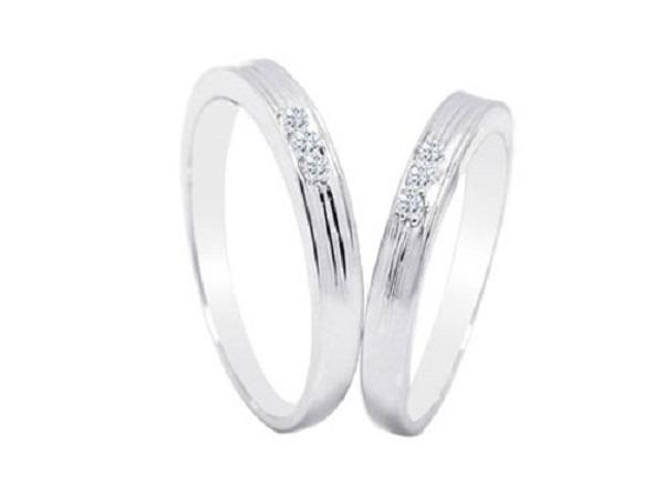 Nhẫn vàng trắng nữ đẹp tính thẩm mỹ cao