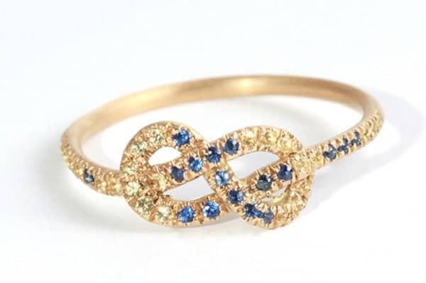 Mẫu nhẫn vàng tây nữ đẹp phù hợp với phong cách năng động, hiện đại