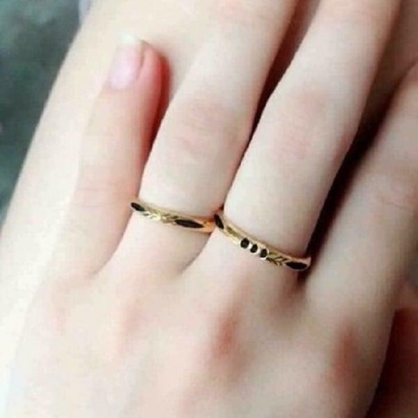 Nhẫn vàng tây nữ kiểu trơn dùng được trong nhiều trường hợp