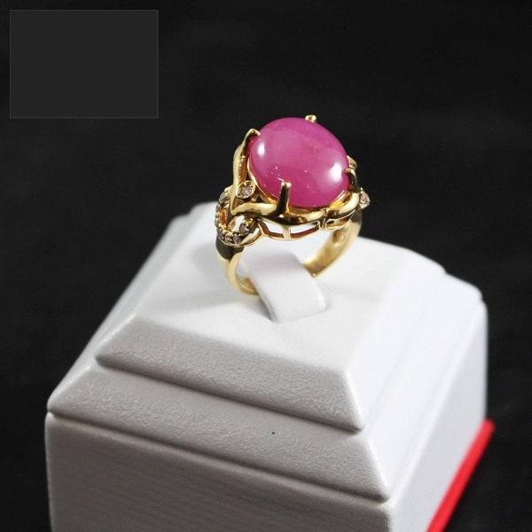Mẫu nhẫn vàng tây nữ gắn đá Ruby mê hoặc