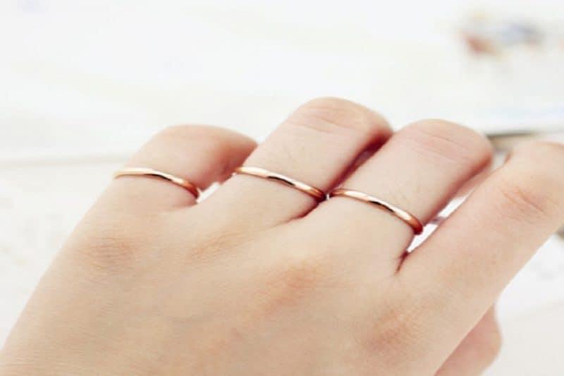 Điểm qua 4 mẫu nhẫn vàng trơn nữ đẹp 2019