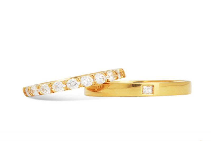 Nên chọn nhẫn vàng tây nữ 18k hay vàng ta?