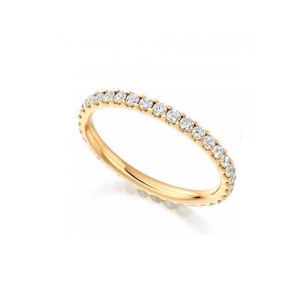 Nhẫn vàng tây nữ đính đá toàn mặt