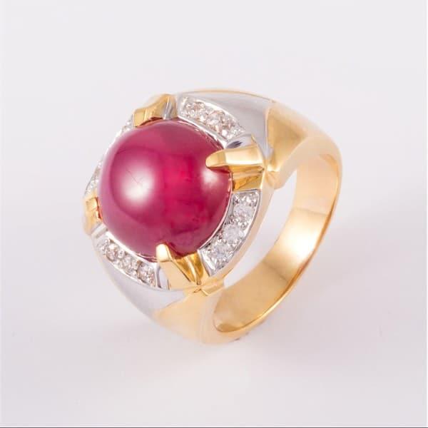 Nhẫn kiểu vàng nam 9999 đính đá quý