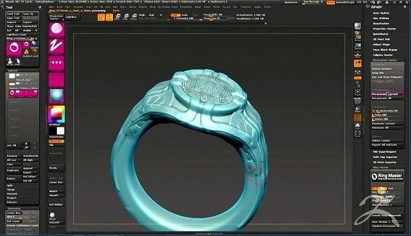 Giai đoạn tạo mẫu 3D nhẫn nam vàng 18k đúc