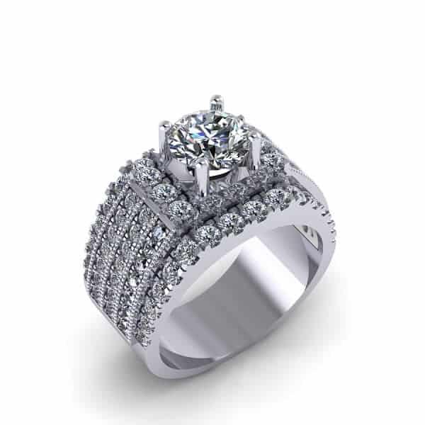 Nhẫn nam vàng trắng 14k sẽ có giá đắt hơn so với nhẫn vàng thường