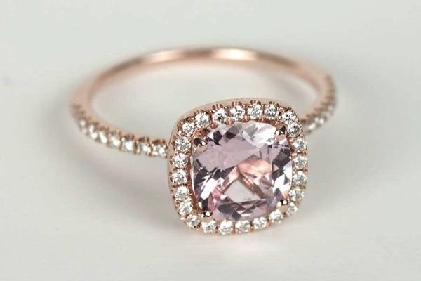 Mẫu nhẫn vàng tây cho cô nàng nữ tính, thích sự ngọt ngào