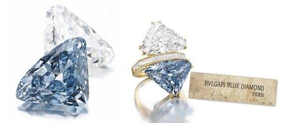 Mẫu nhẫn kim cương xanh tam giác